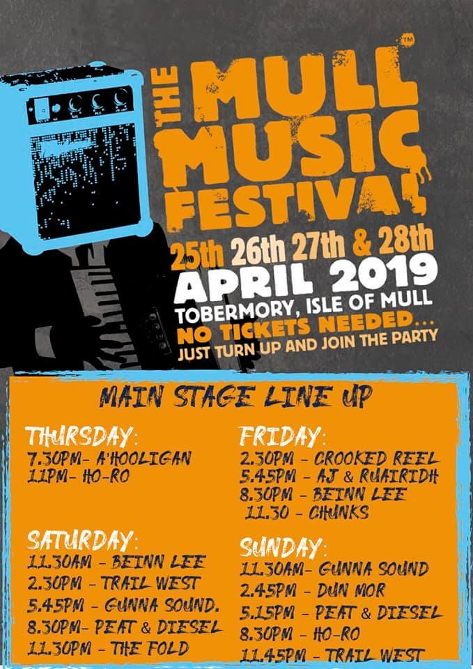 Mull Music Festival Main Stage 2019